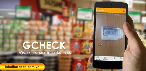 gcheck kiểm tra mã vạch sản phẩm online