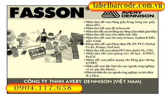 decal fasson avery - giấy in tem mã vạch